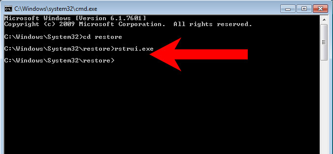 win7-command-prompt UPPER ransomware を削除する方法
