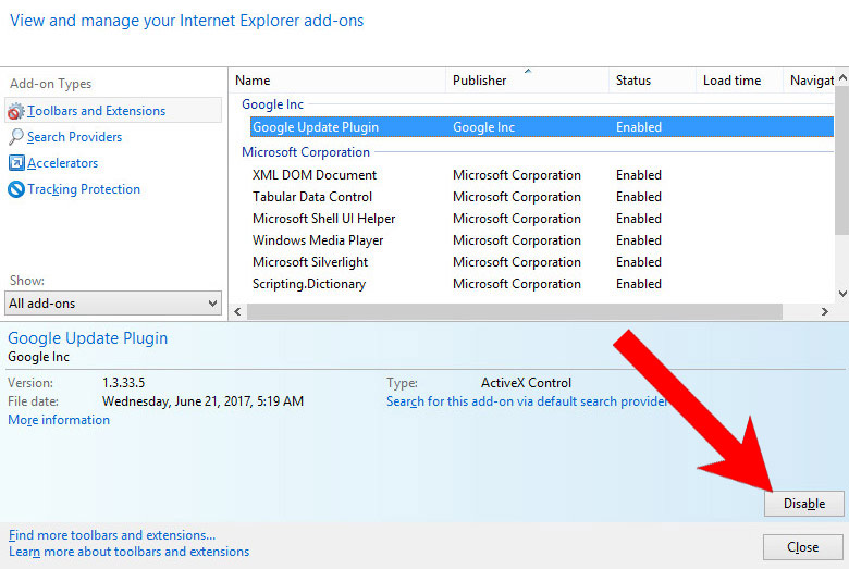 IE-add-ons Ways to remove Edhappearer.info virus