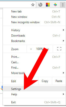 chrome-menu Search-find.net poisto