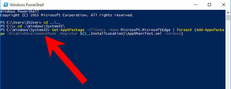 edge-powershell-script Millagesert.info pop-up ads poisto