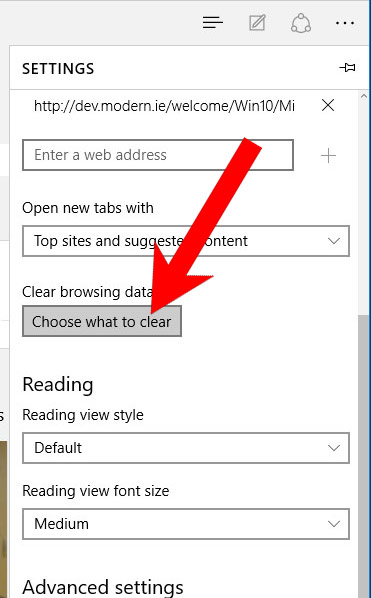 edge-settings SearchWebPortal poisto