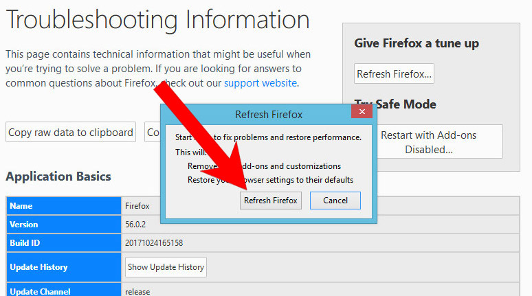 mozilla-reset How to remove Holasearch.com virus