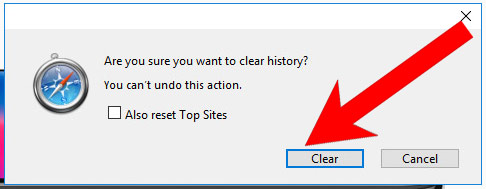 safari-clear-history كيفية إزالة Domainht5.cf pop-up ads
