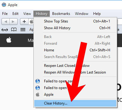 safari-history Bagaimana menghapus Track Packages Quick Virus