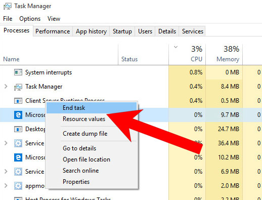 task-manager How to remove Countmake.cool redirect [Chrome, Firefox, IE, Edge]